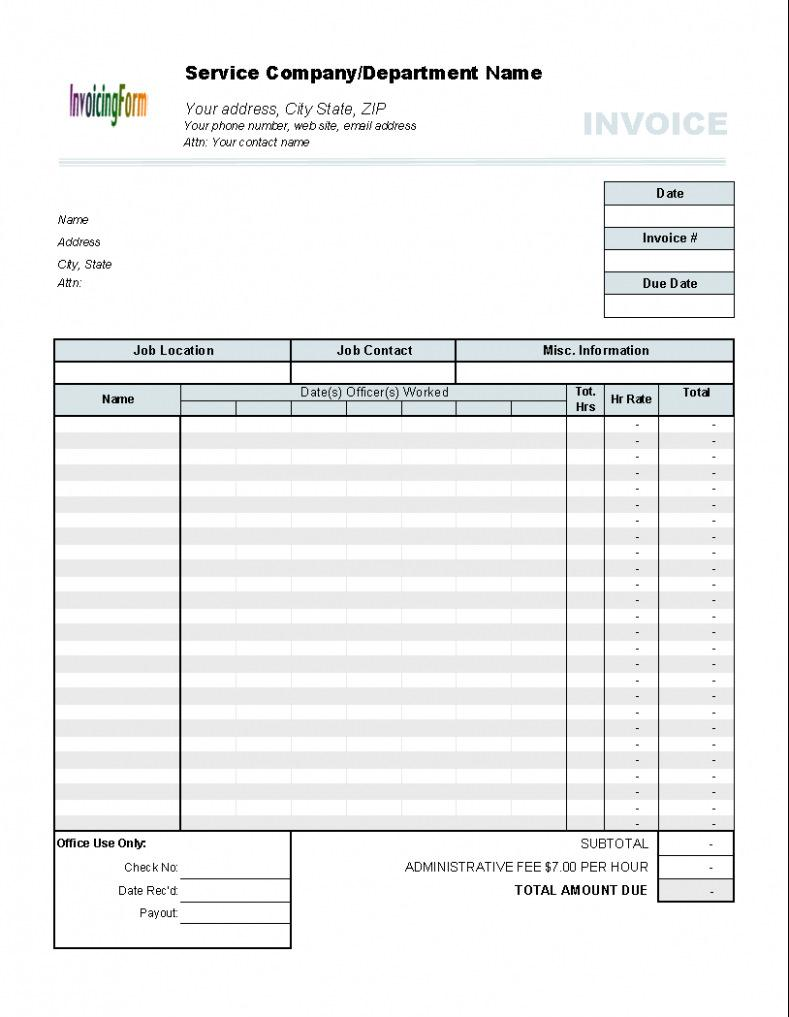 Free Invoice Template For Roofing Contractors