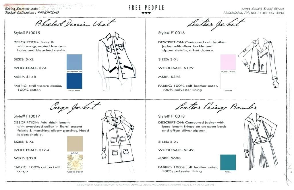 Free Jewelry Line Sheet Template
