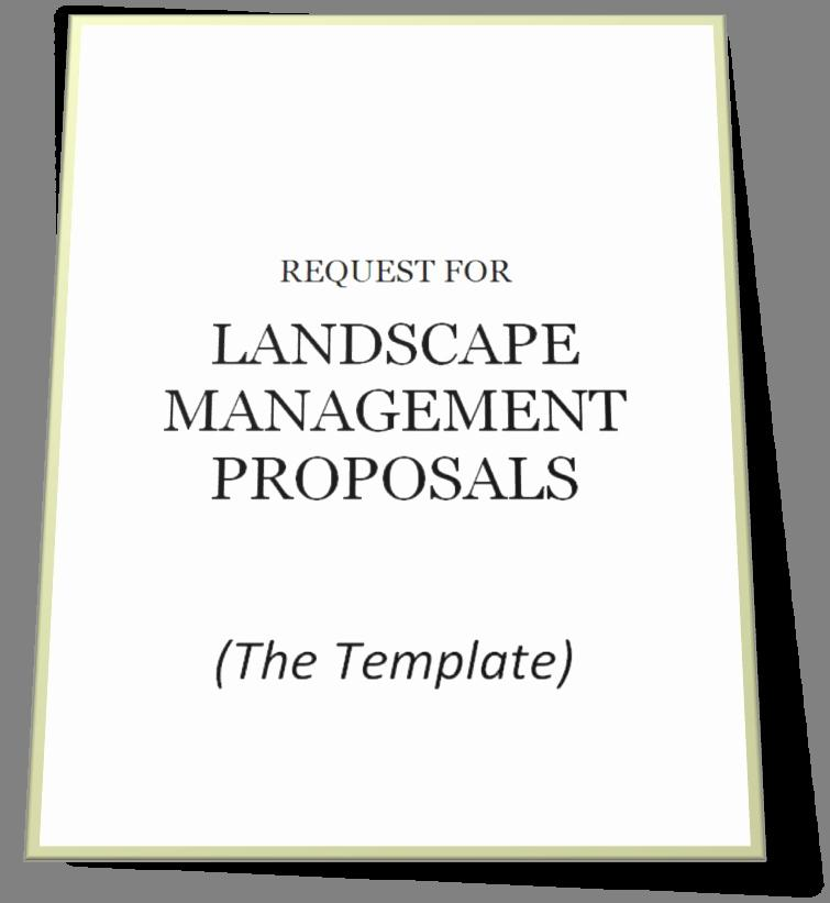 Free Landscape Proposal Template