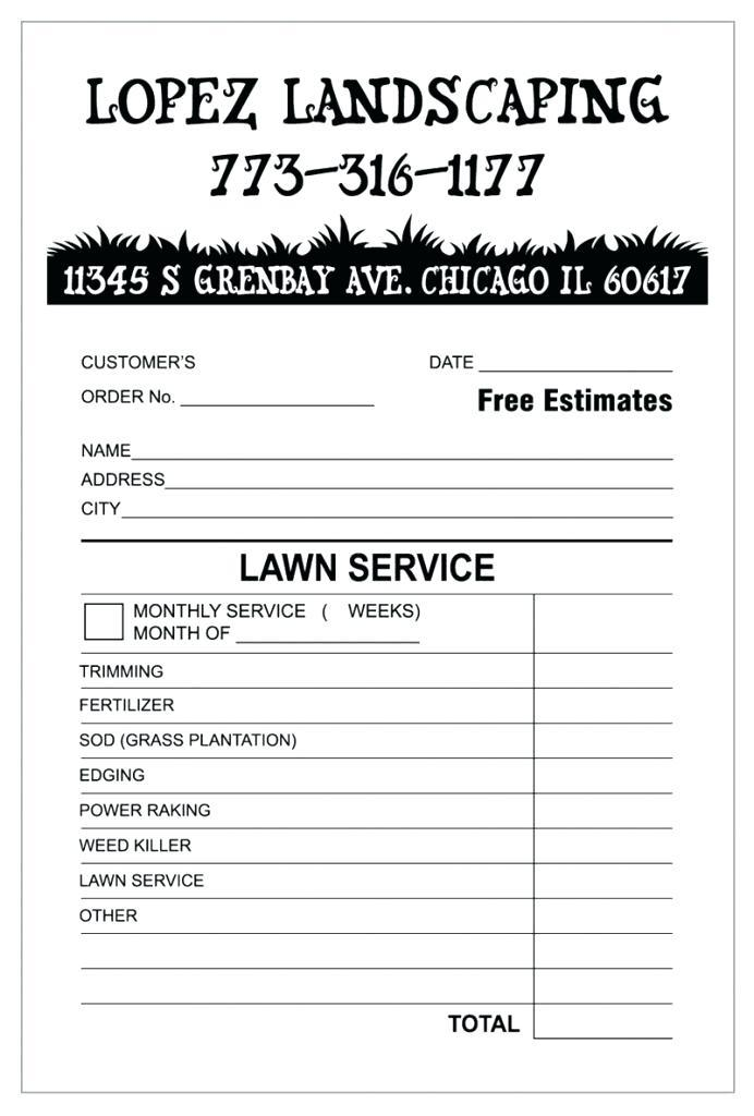Free Landscaping Bill Template