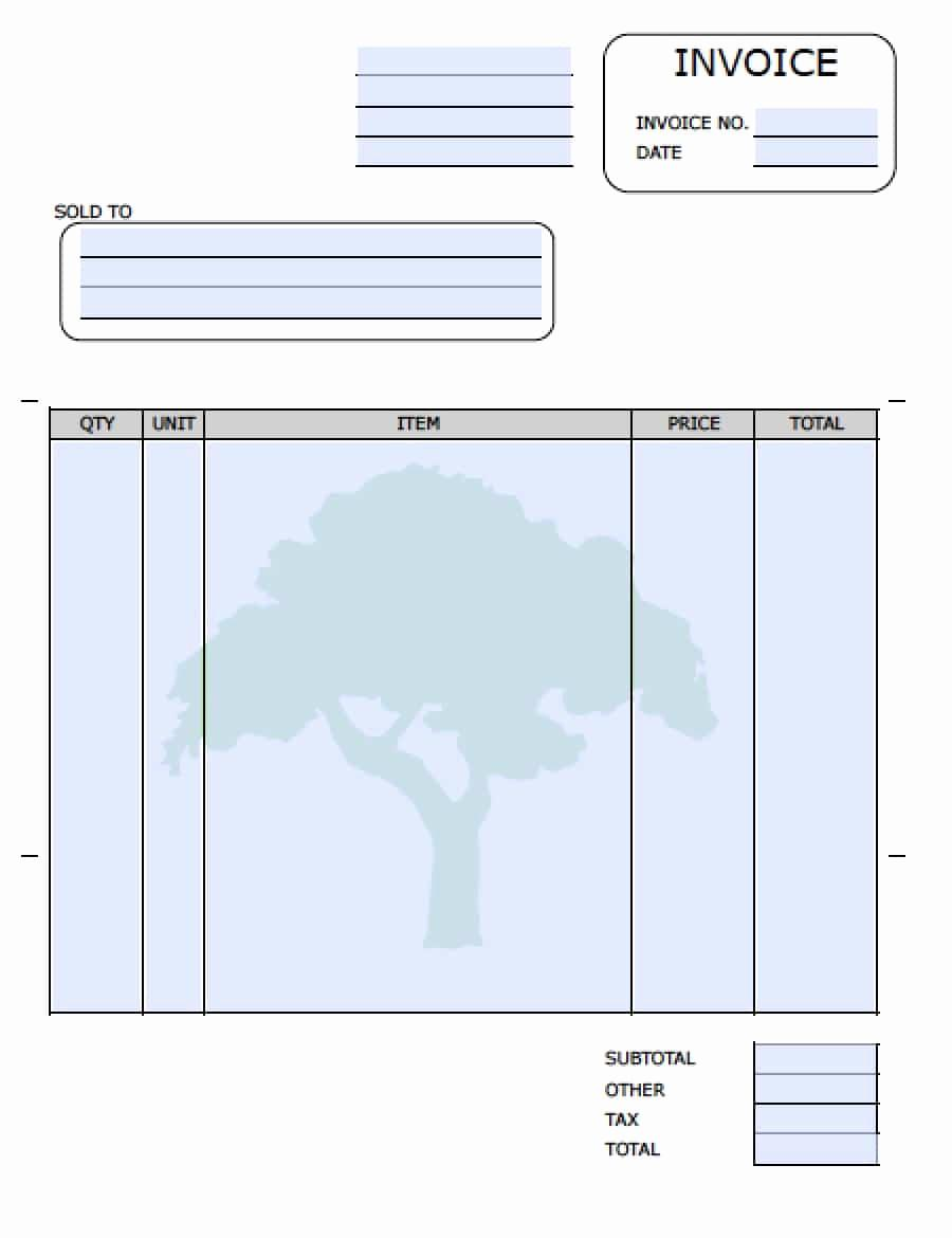Free Landscaping Invoice Template Word