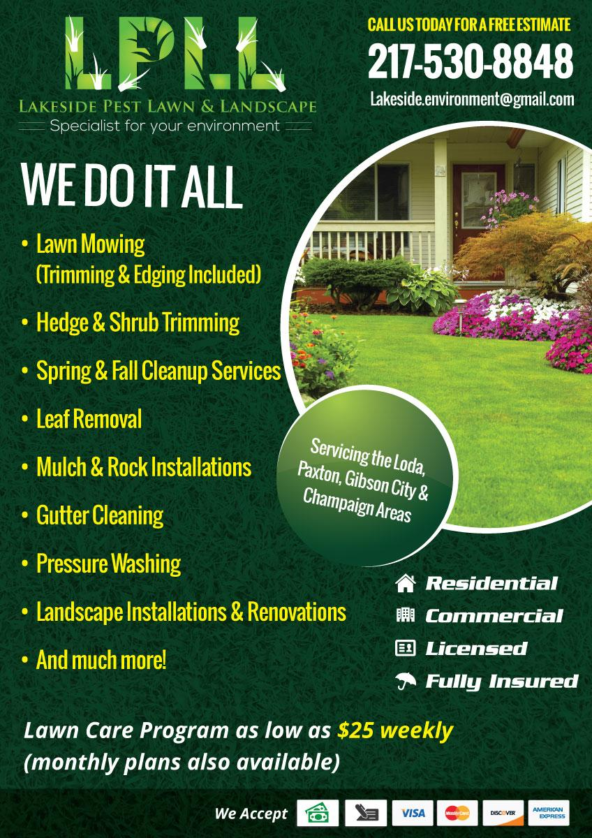 Free Lawn Care Business Flyer Templates