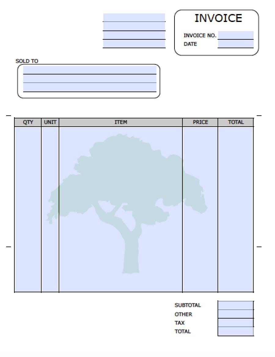 Free Lawn Care Invoice Template