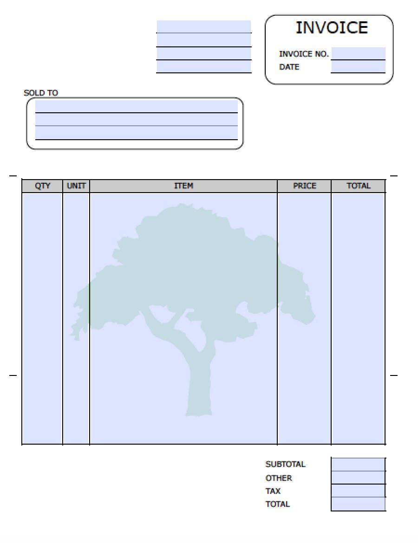 Free Lawn Care Invoice Template