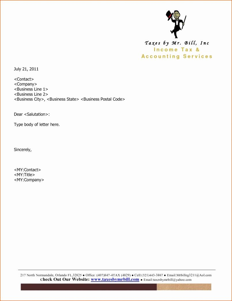 Free Letterhead Templates For Mac