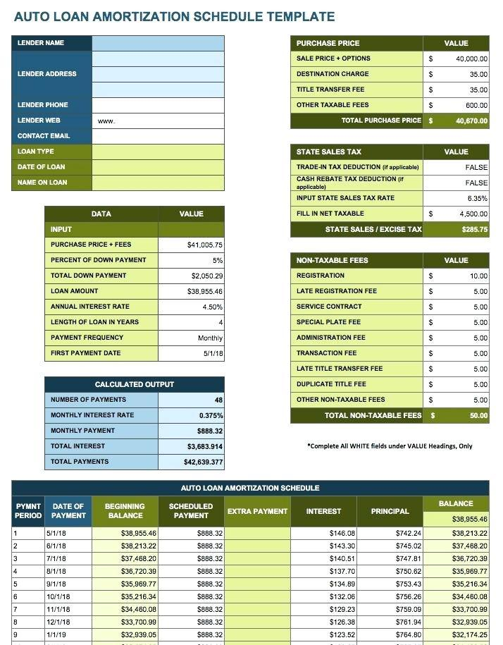 Free Loan Repayment Schedule Template