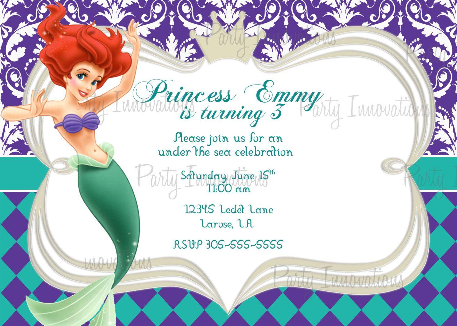 Free Mermaid Invitation Template Download