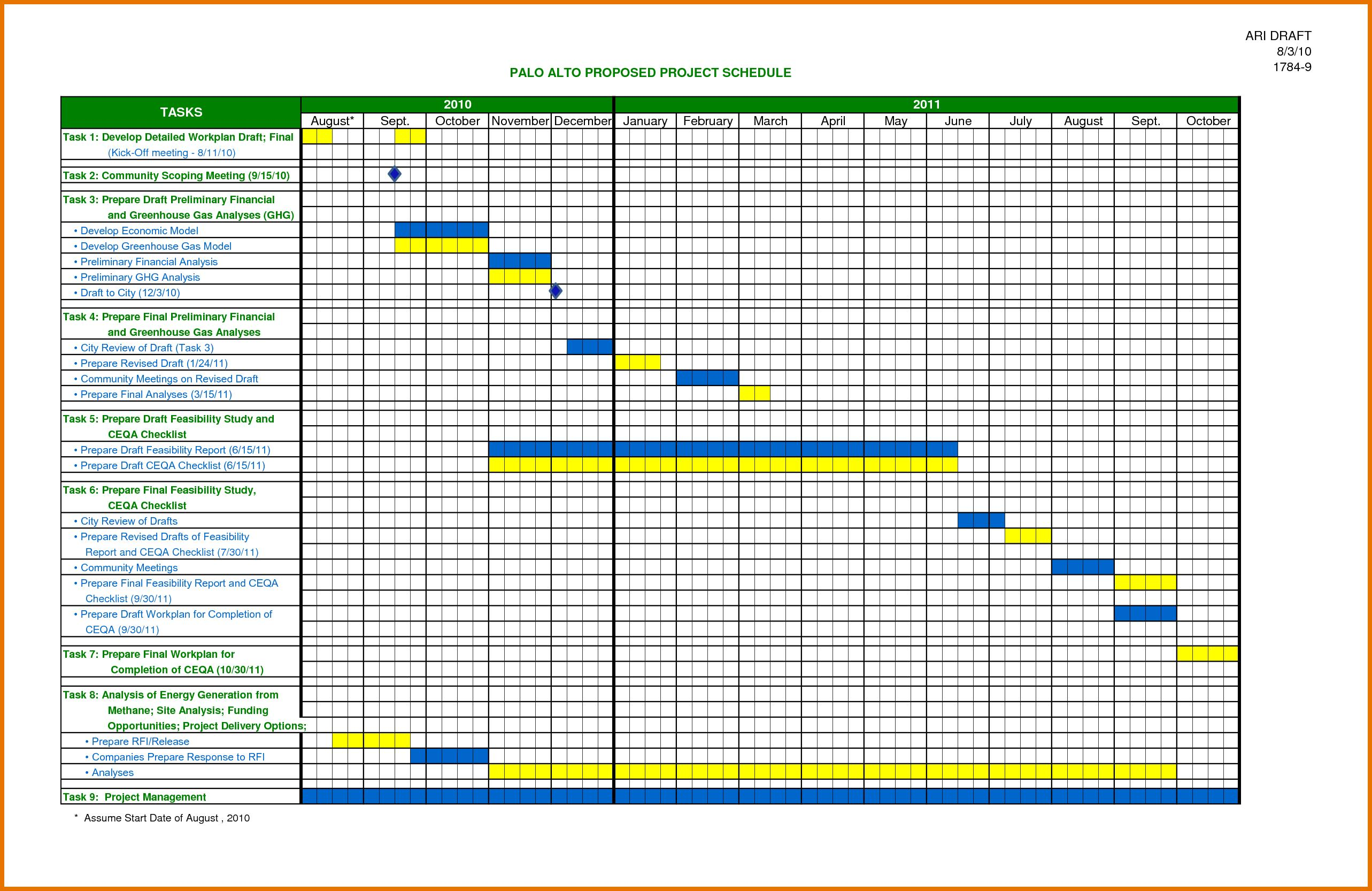 Free Microsoft Excel Schedule Templates