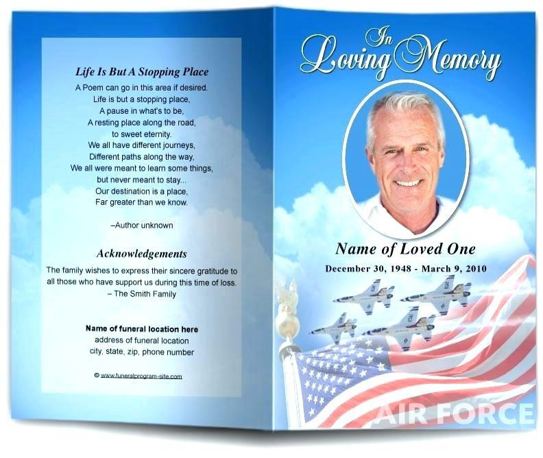 Free Military Funeral Program Templates