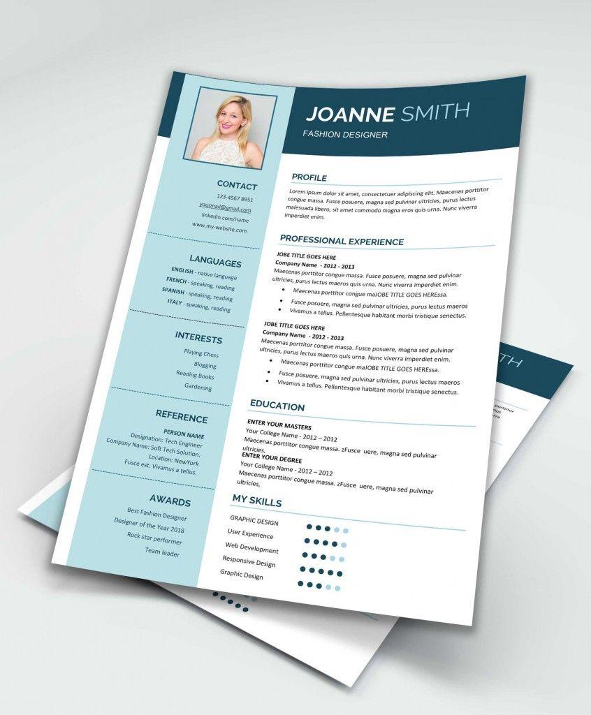 Free Modern Resume Template Ms Word
