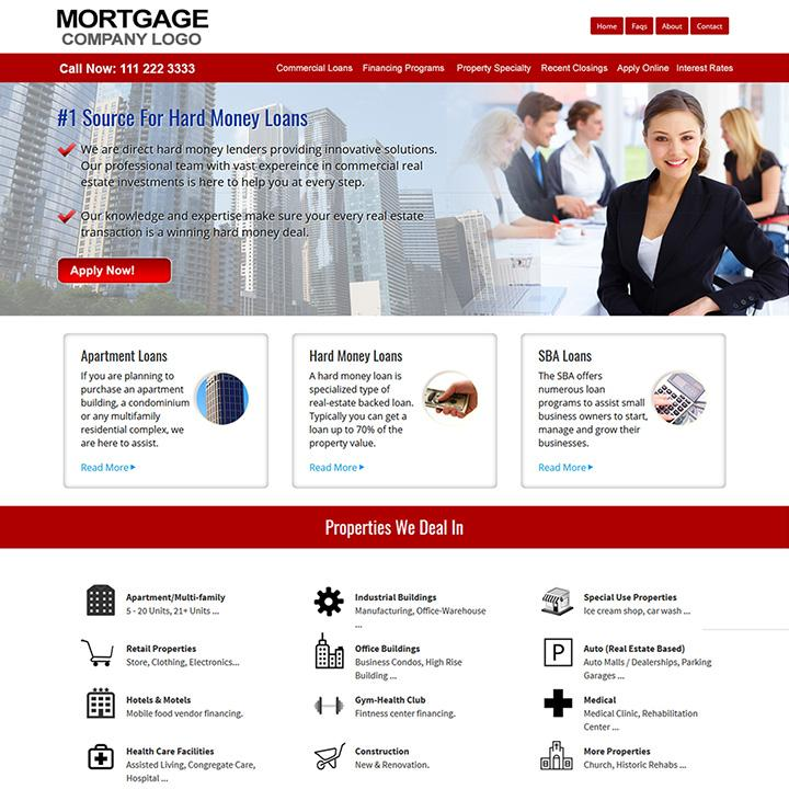 Free Mortgage Broker Website Templates