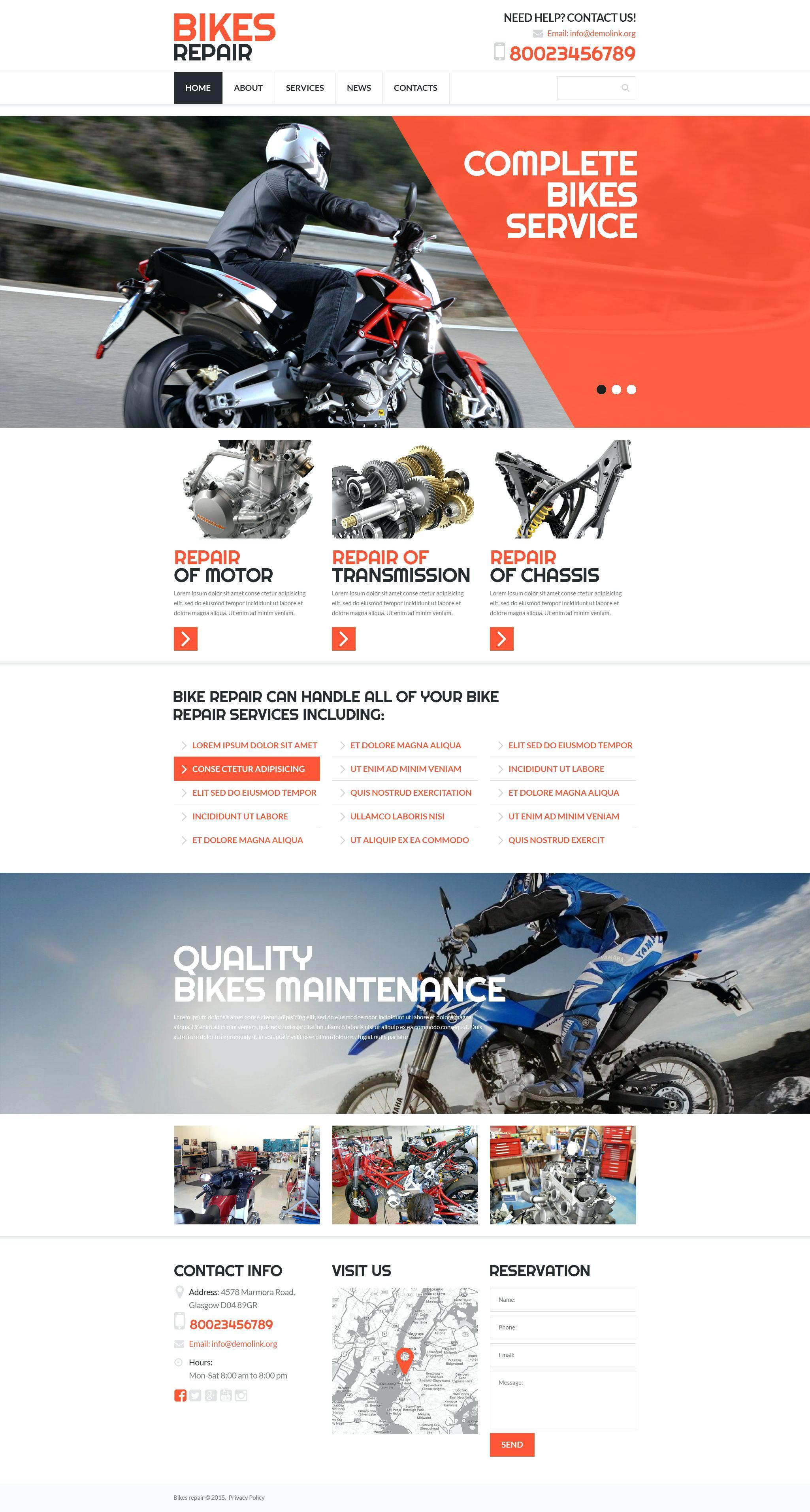 Free Motorcycle Club Website Template - Templates #92615