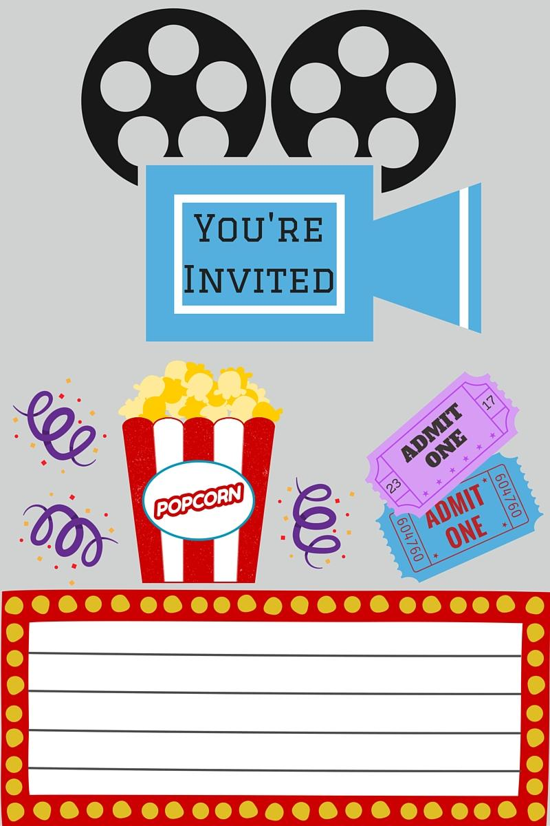 Free Movie Themed Invitation Templates