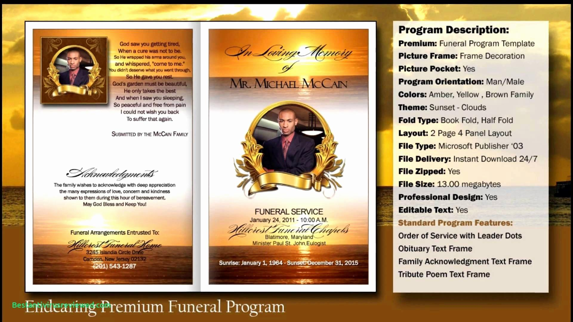Free Ms Word Funeral Program Template