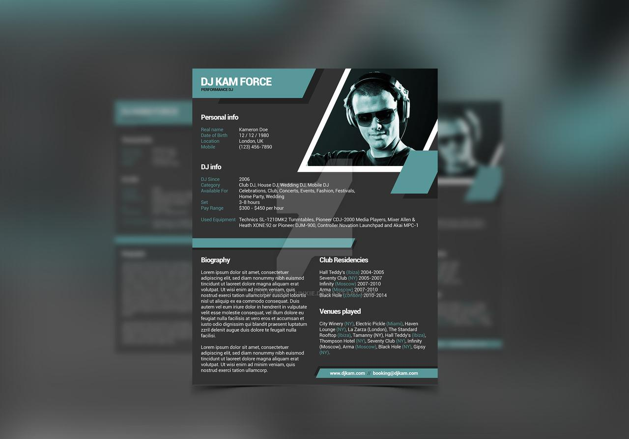 Free Music Press Kit Template