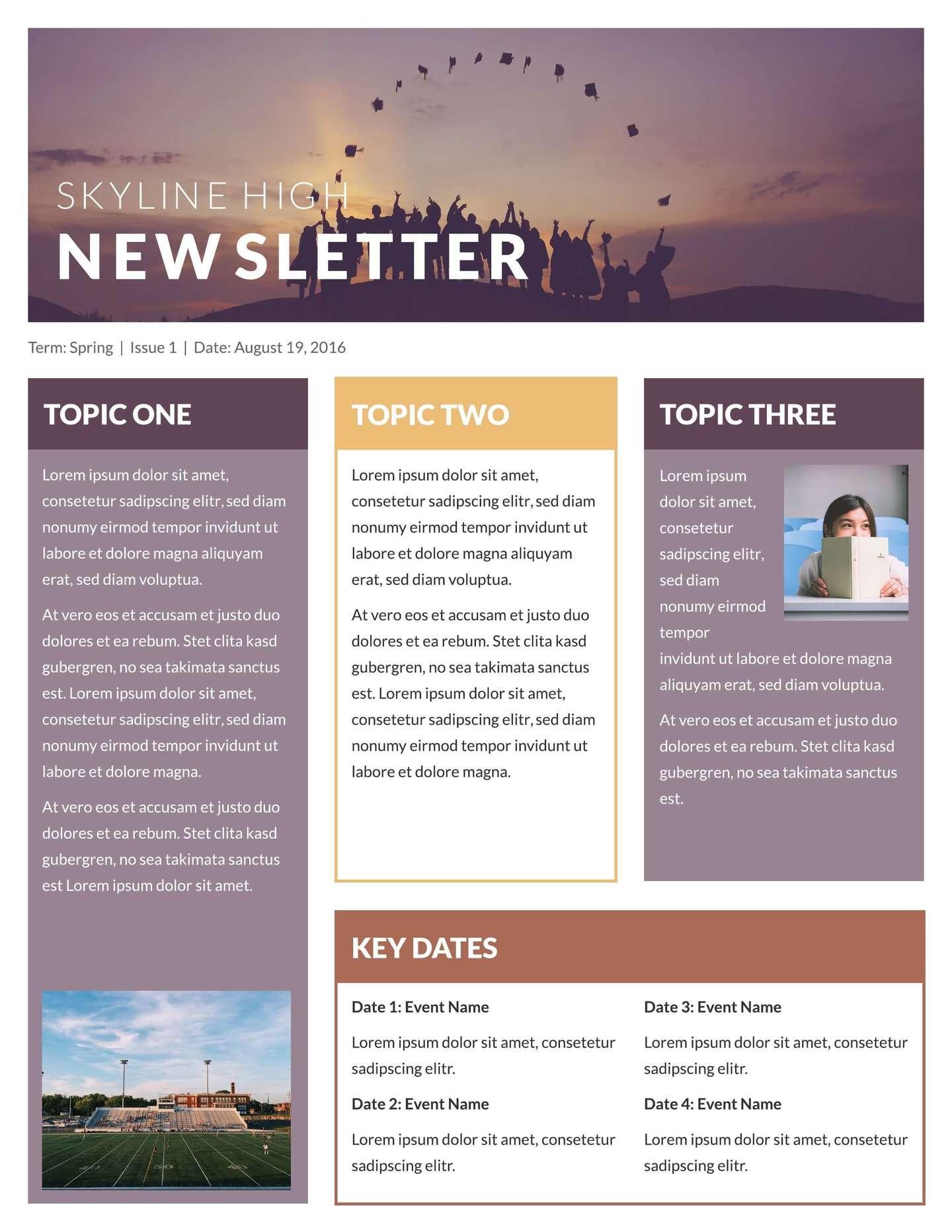 Free Newsletter Templates Wordpress