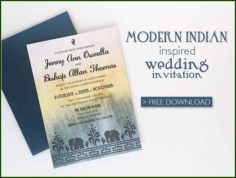 Free Online Indian Wedding Invitation Templates