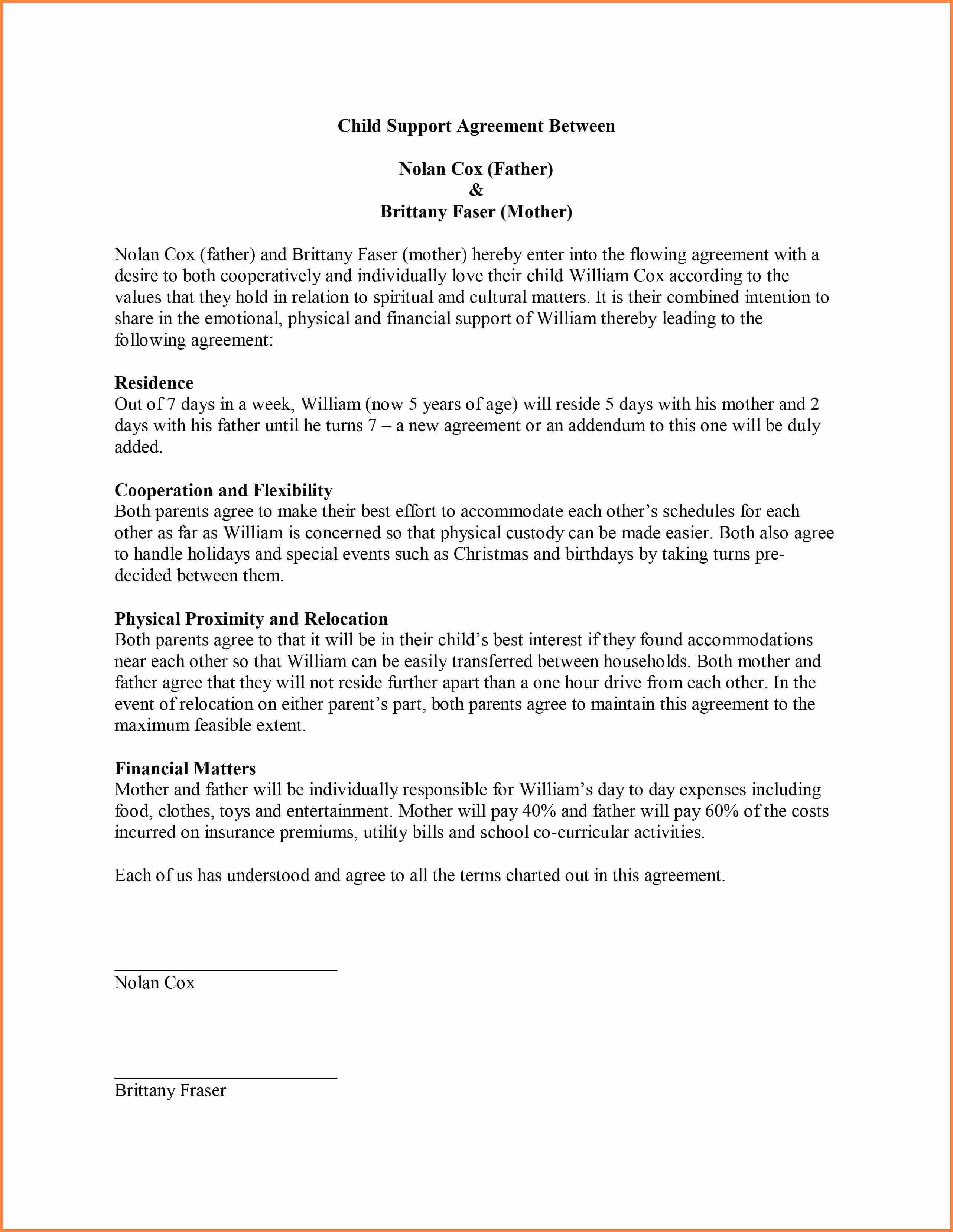 Free Parent Child Contract Templates