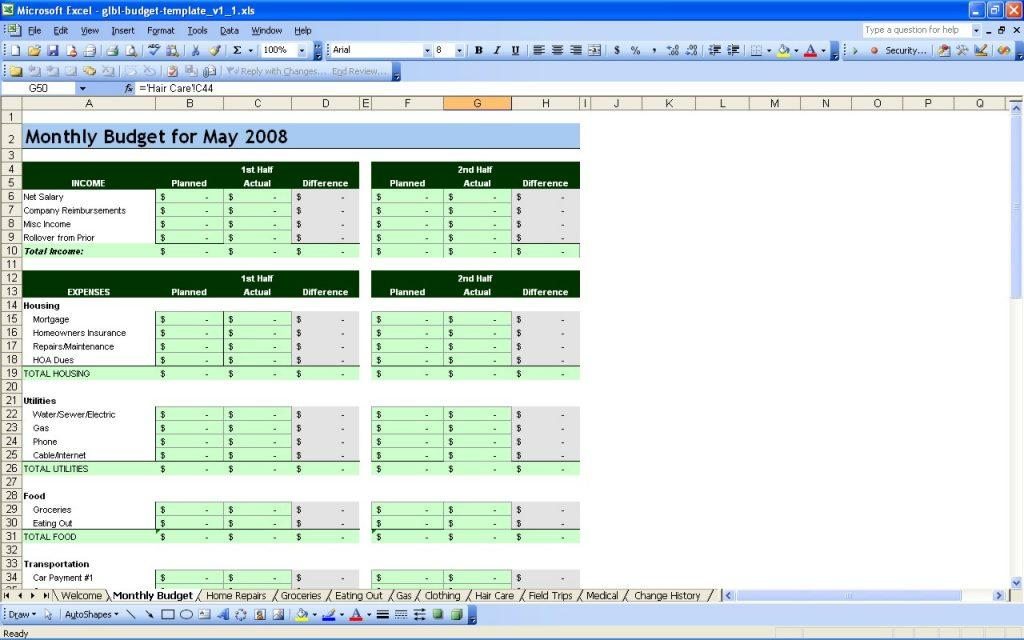 Free Personal Budget Templates For Excel