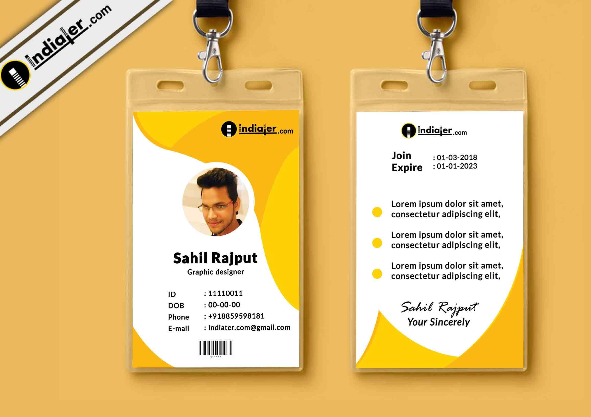 Free Photo Id Badges Templates