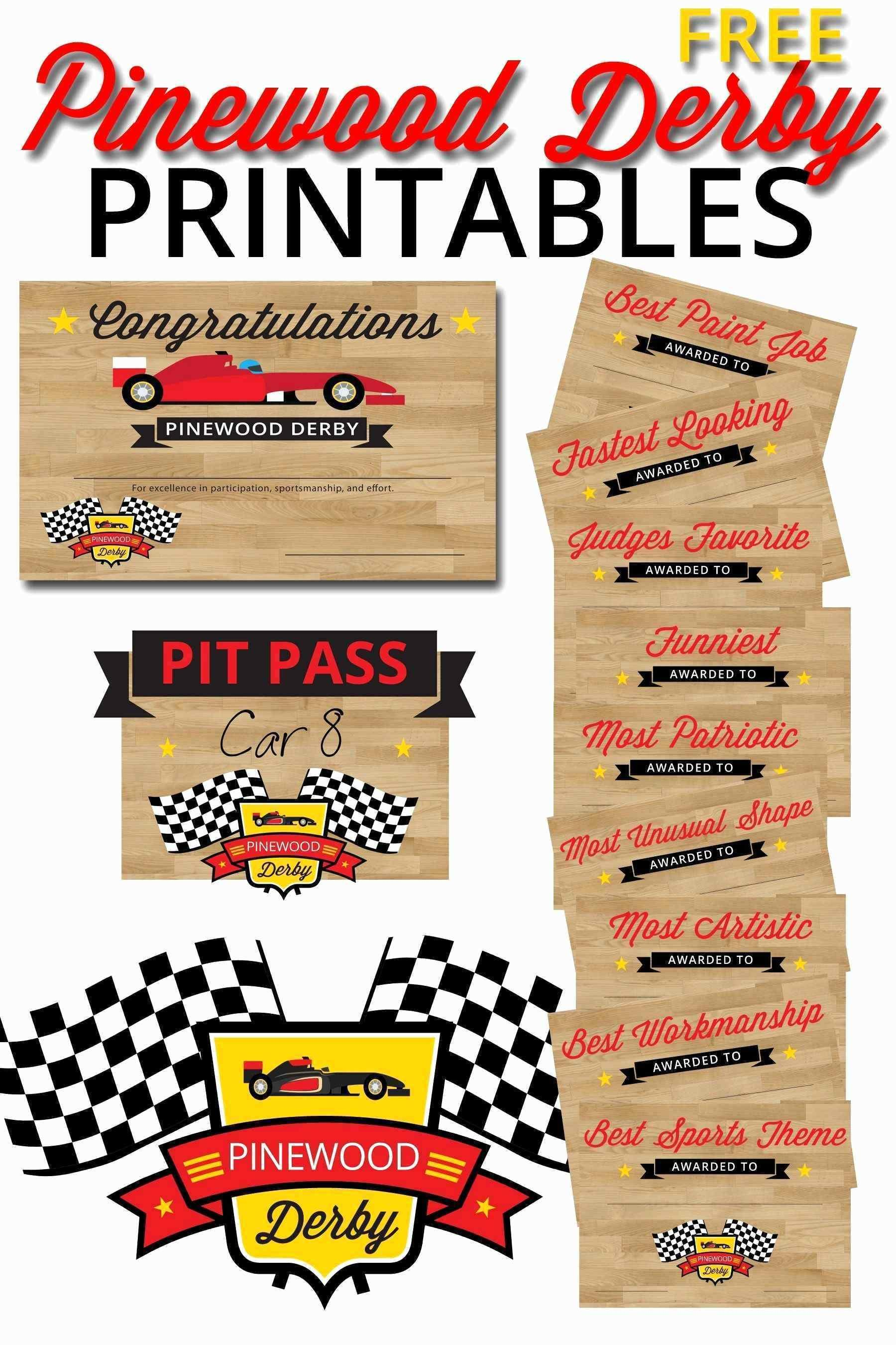 Free Pinewood Derby Car Templates Download