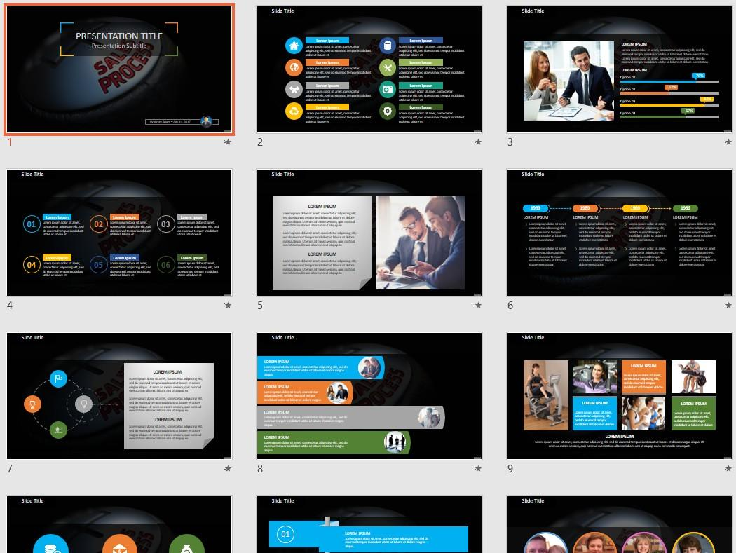 Free Powerpoint Templates Sales Process