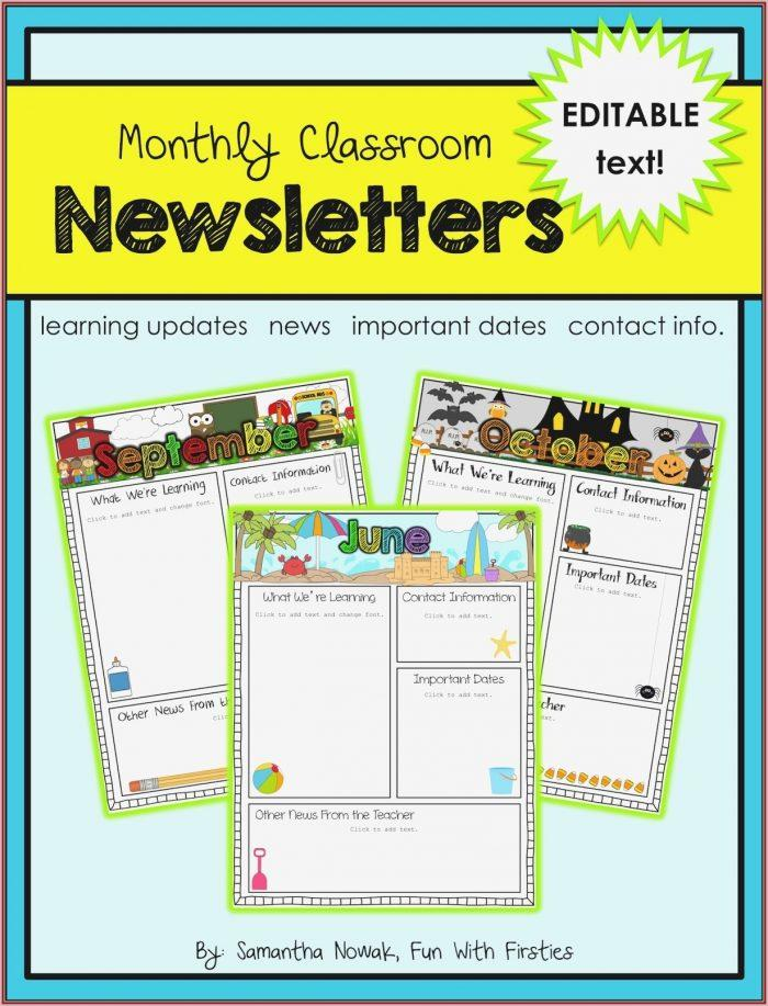 Free Preschool Newsletter Templates Word
