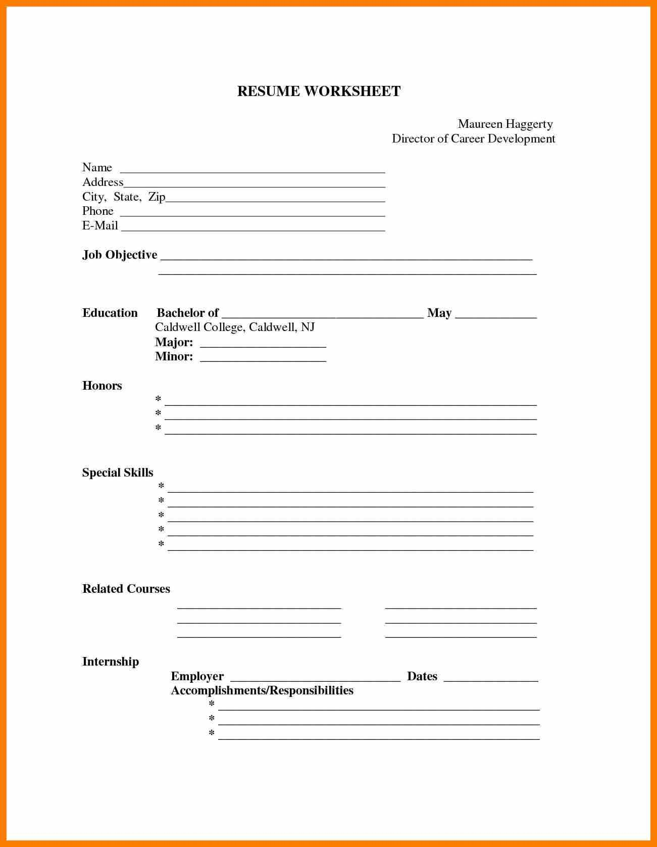 Free Printable Basic Resume Templates