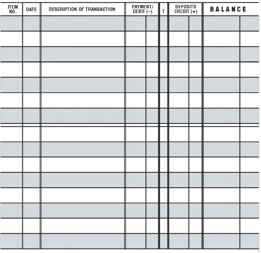 Free Printable Checking Account Register Template