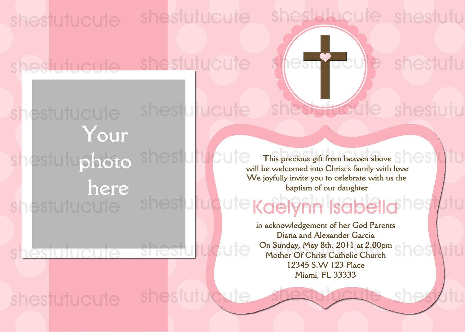 Free Printable Christening Invitations Templates