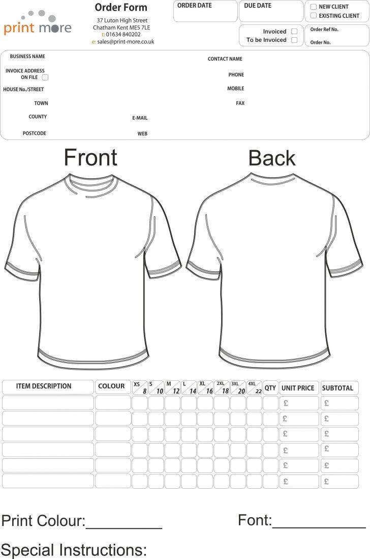 Free Printable Fundraiser Order Form Template