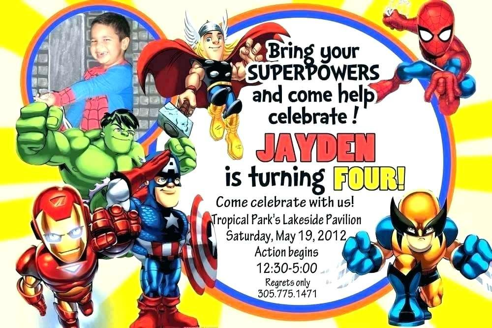 Free Printable Girl Superhero Birthday Invitation Templates