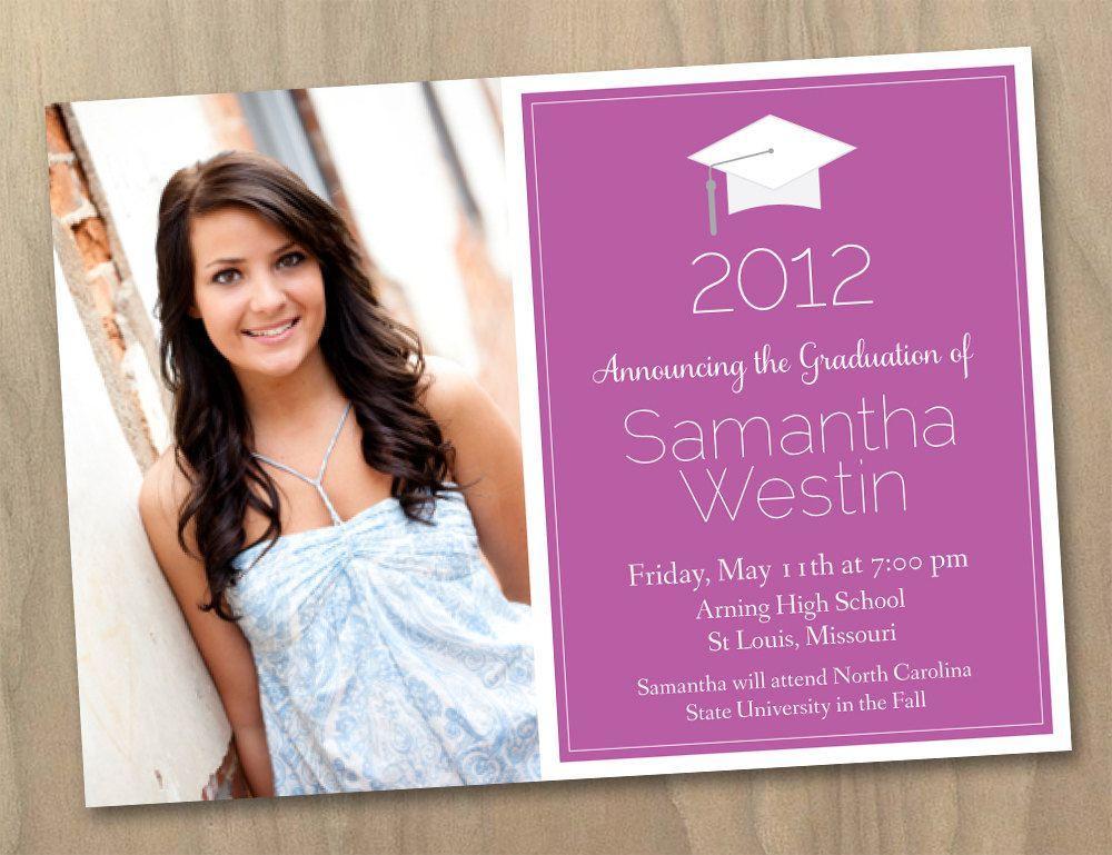 Free Printable Photo Graduation Invitation Templates
