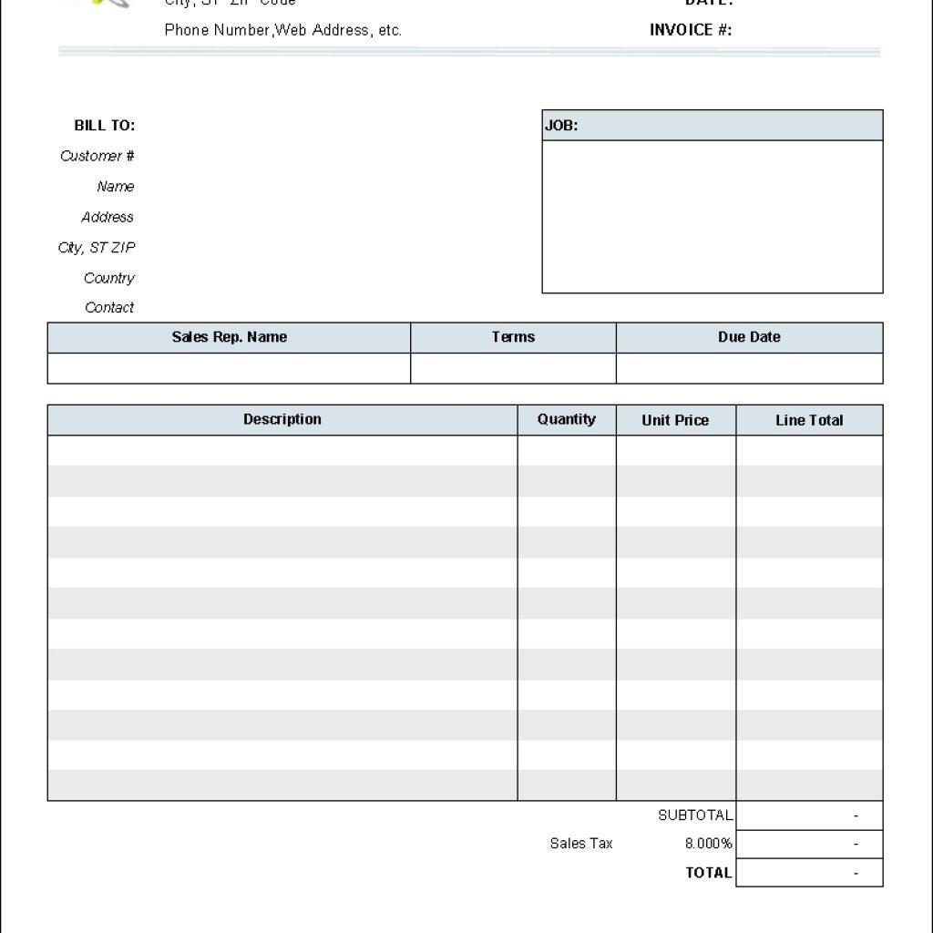 Free Printable Simple Invoice Template