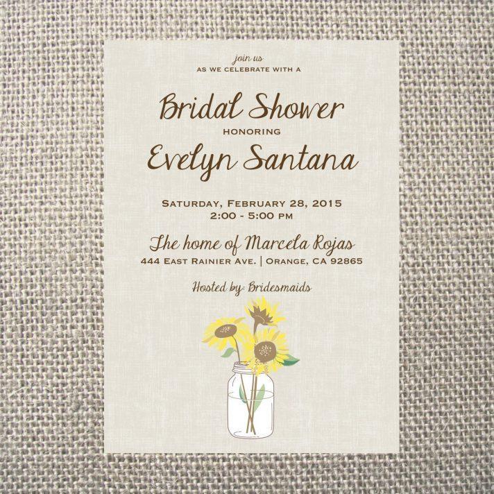 Free Printable Sunflower Wedding Invitation Templates