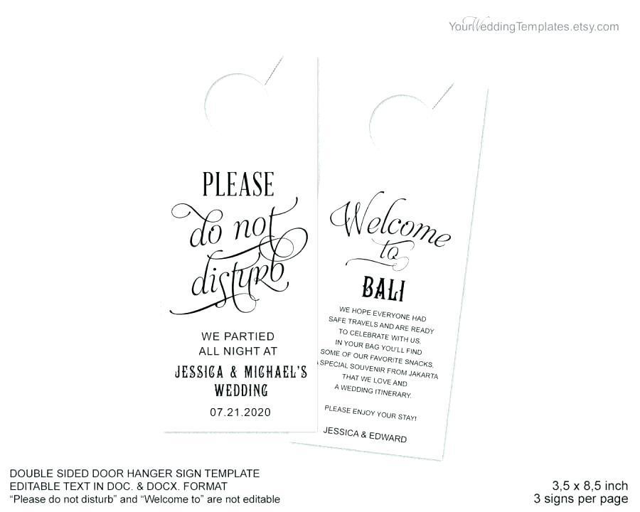 Free Printable Wedding Door Hanger Template
