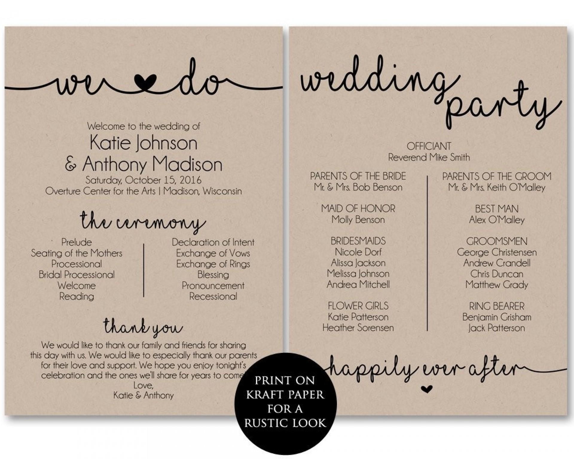 Diy Wedding Program Paddle Fans Template - Templates #54878