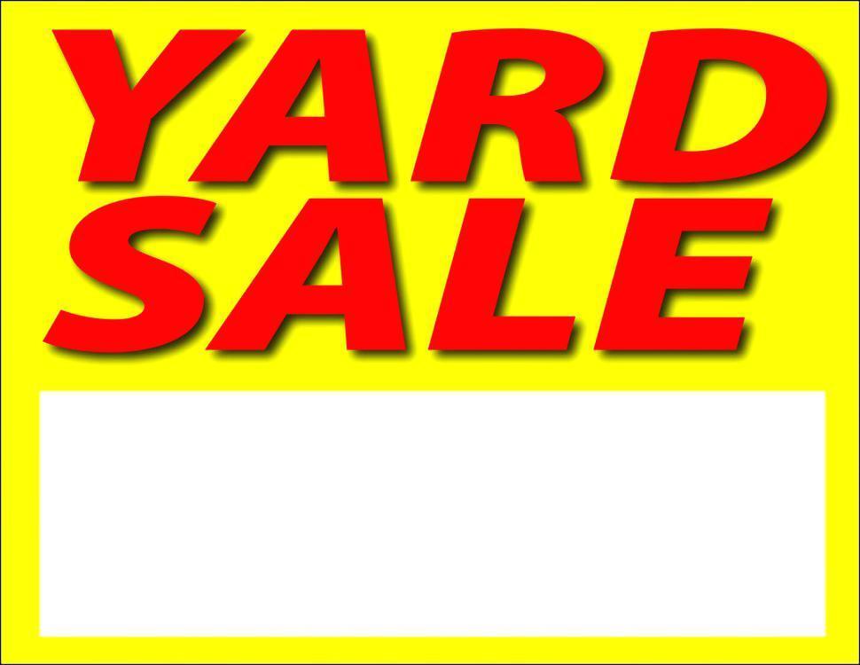 Free Printable Yard Sale Signs Templates