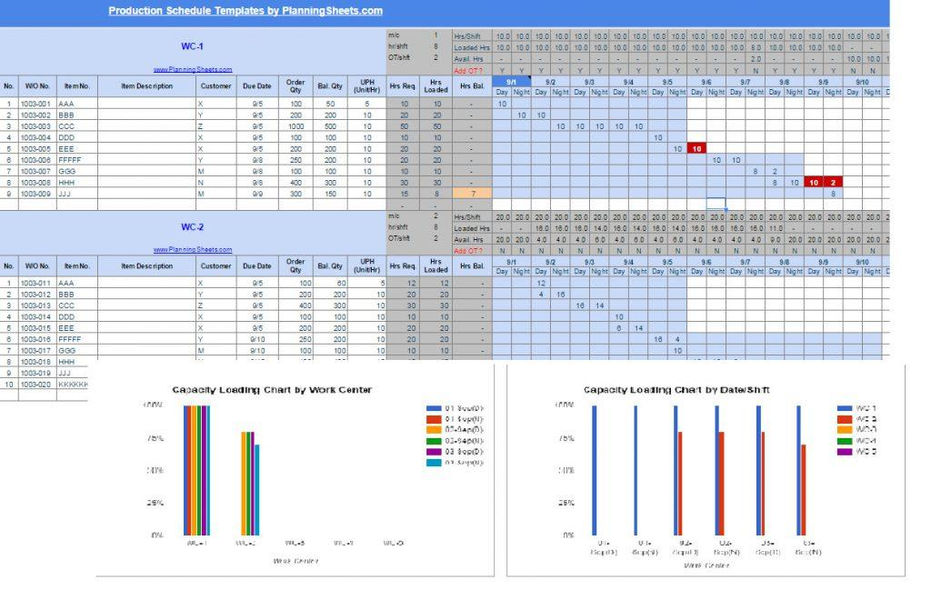Free Production Scheduling Excel Template