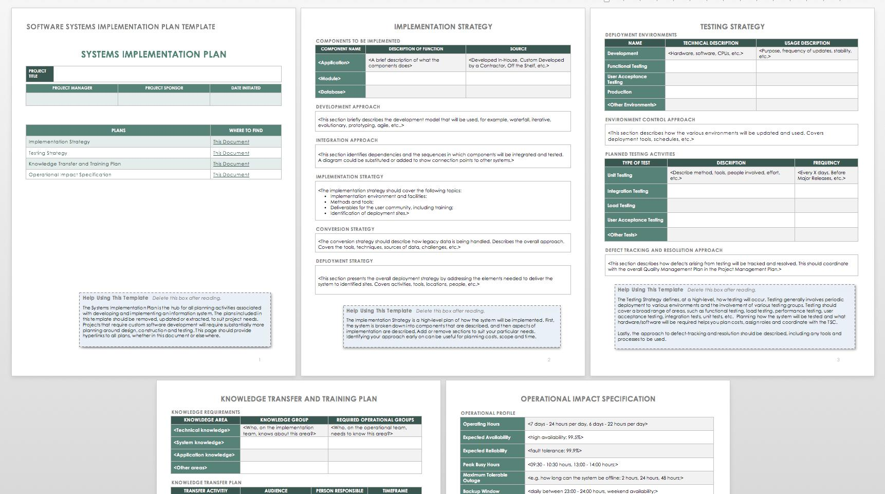 Free Project Rollout Plan Template
