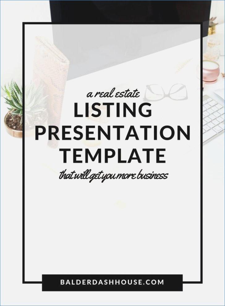 Free Real Estate Listing Presentation Template