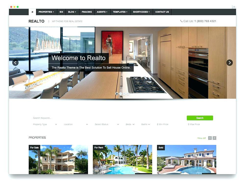 Free Real Estate Responsive Website Templates