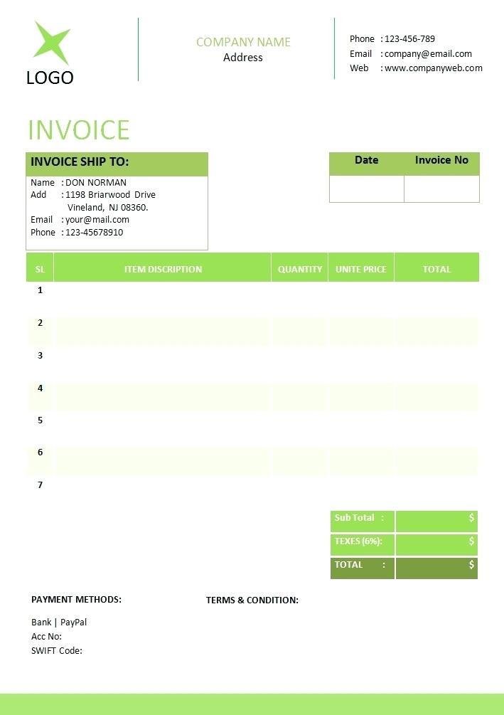 Free Receipt Template Open Office
