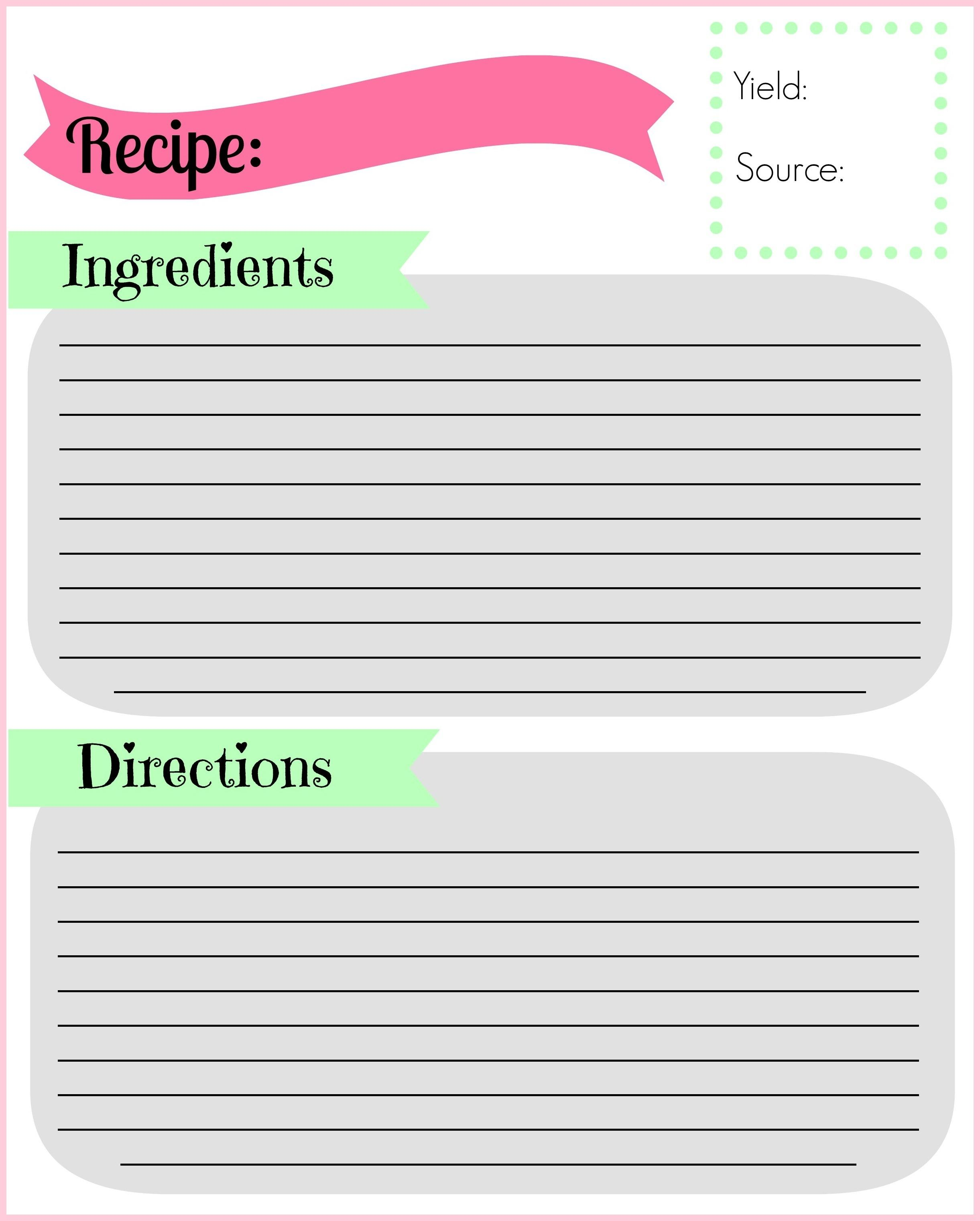 graphic about Free Printable Recipe Binder Templates identified as Absolutely free Recipe Binder Templates - Templates #84848 Resume
