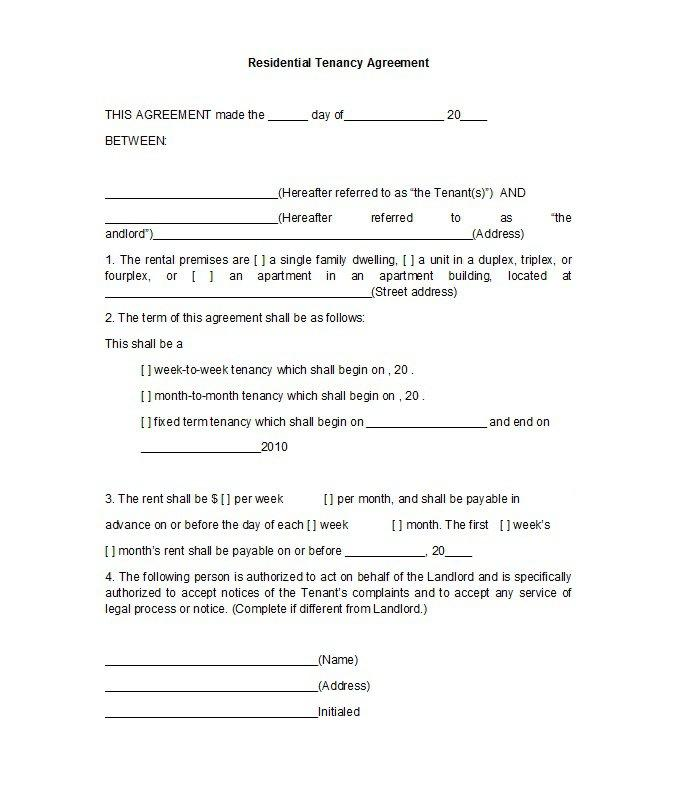 Free Rental Agreement Template South Africa