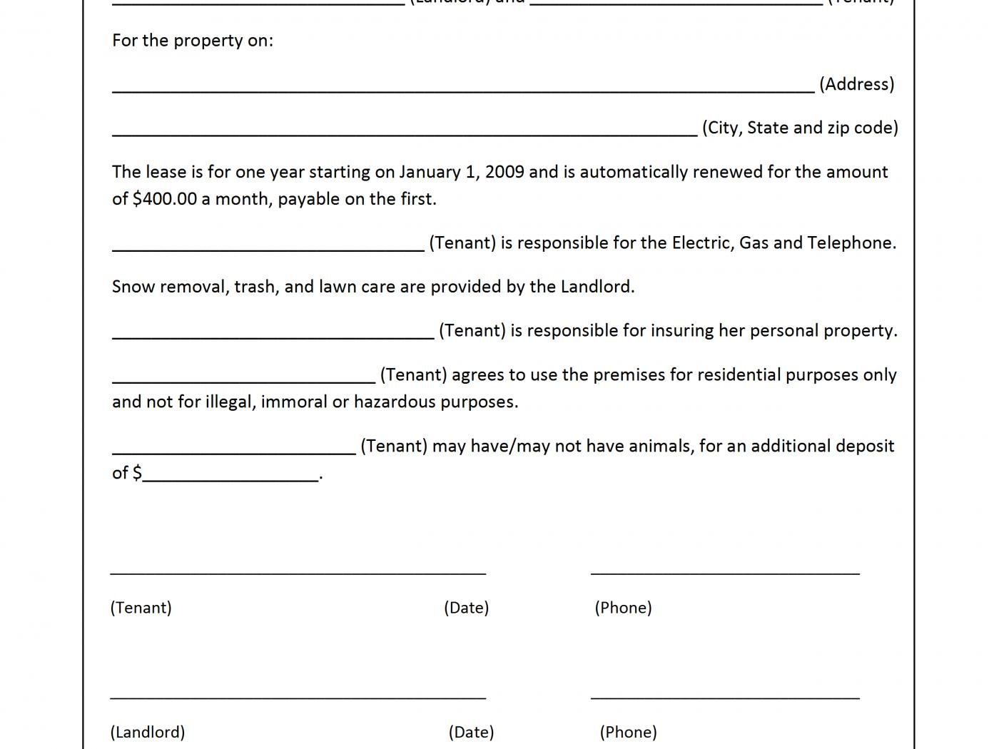 Free Rental Application Form Template Australia