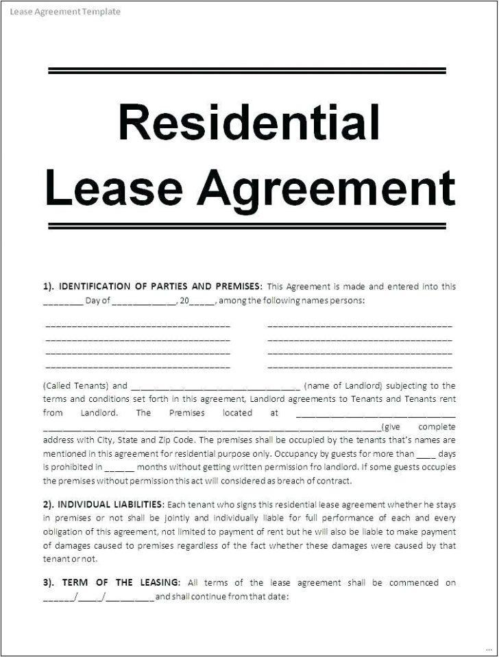 Free Rental Lease Agreement Template South Africa