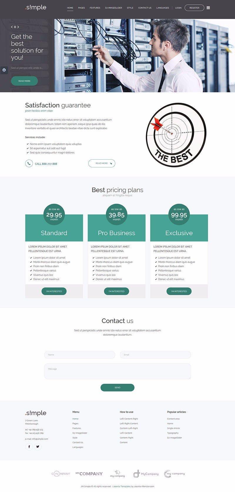 Free Responsive Joomla Templates For Business