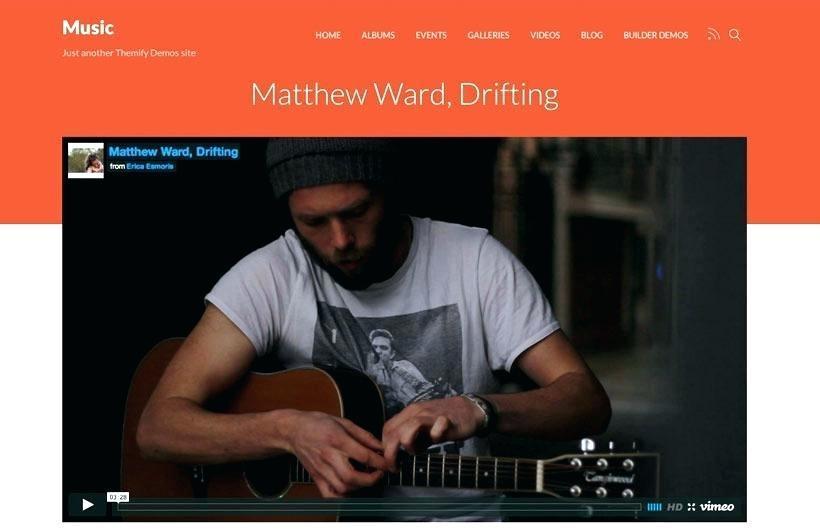 Free Responsive Music Website Templates