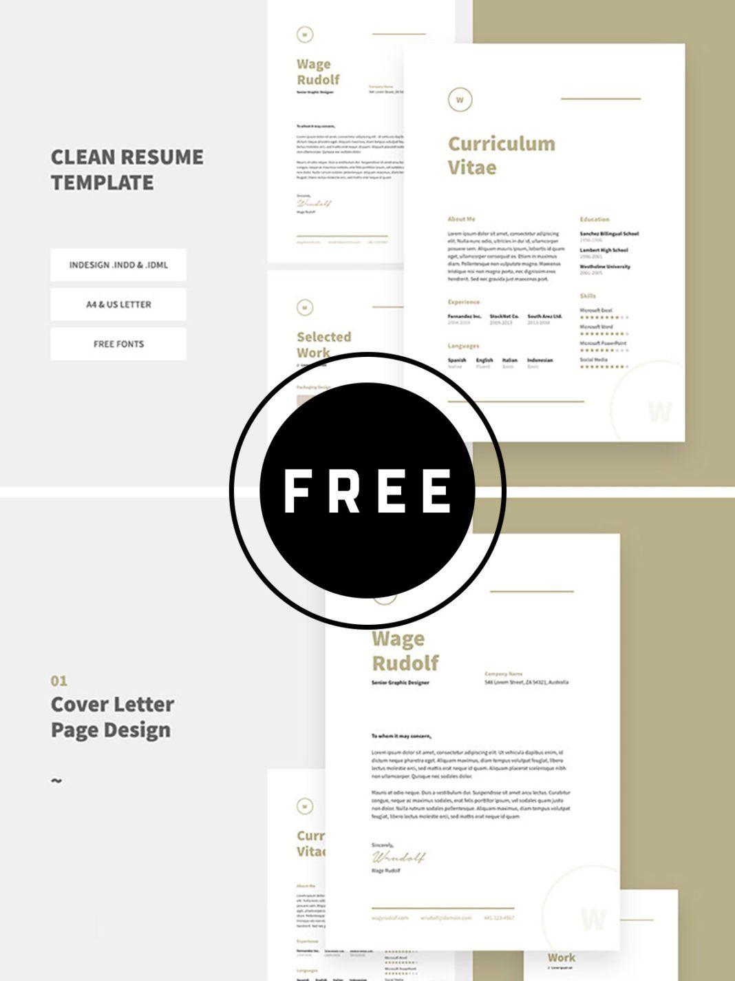 Free Indesign Resume Template 2018